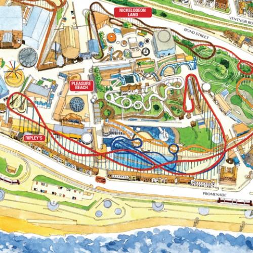 Blackpool pleasure beach map