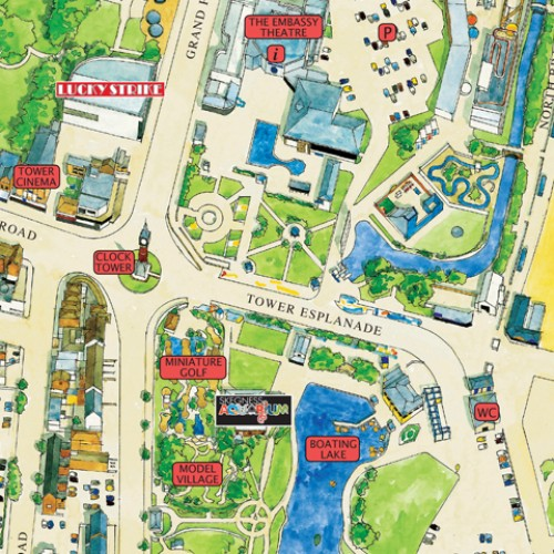 Map Of Skegness Skegness Map